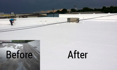 Commercial roof coating texas